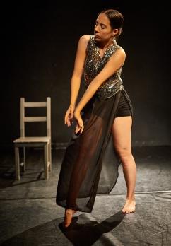 Lucia Schweigert in Grief at Blue Cloud Scratch Night, Photo: Jeremy Henderson