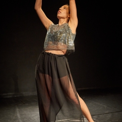 Lucia Schweigert in Grief at Blue Cloud Scratch Night, Photo: Jeremy Henderson