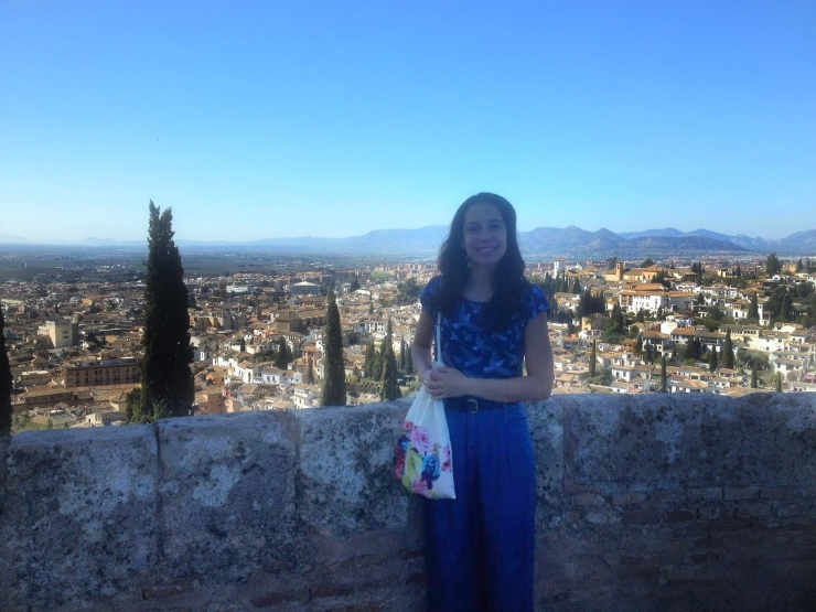 Lucia at the Alhambra in Granada