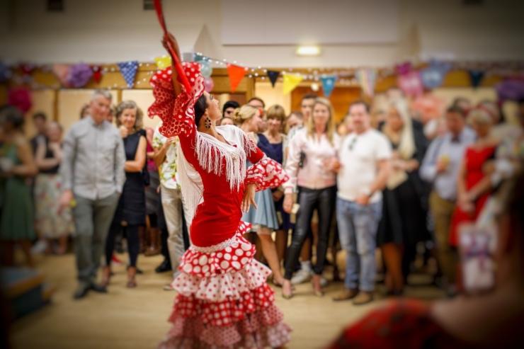 Flamenco dancer at birthday party Lucia Schweigert