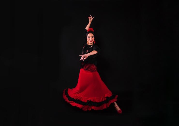Flamenco dancer Lucia Schweigert
