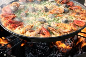 Paella for Spanish theme party