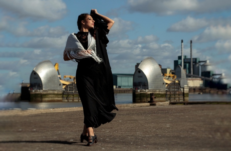 Flamenco dancer for outdoor events Lucia Schweigert