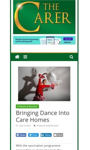 Lucia Flamenco Dancer care home entertainment guest article for The Carer