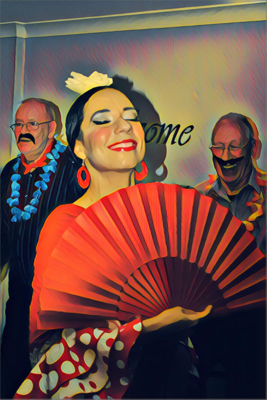 Lucia Schweigert - Flamenco dancer for retirement home entertainment