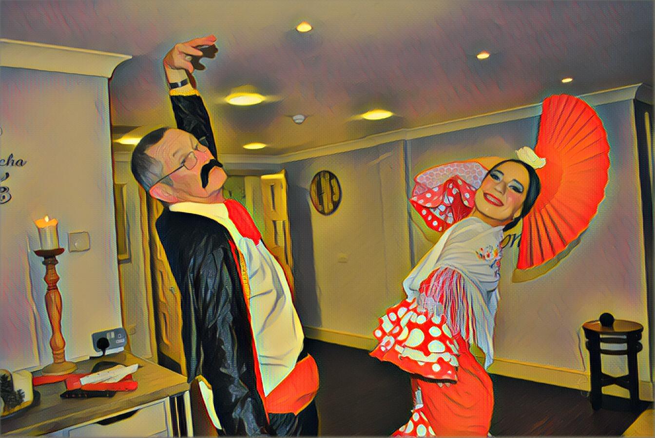 Flamenco dancer for retirement home entertainment